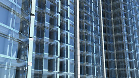 Blank glass facade of office building stock illustration