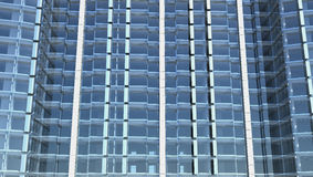 Blank glass facade of office building Stock Photo