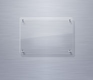 Blank glass plate Royalty Free Stock Image