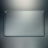 Blank glass plate background Royalty Free Stock Photography