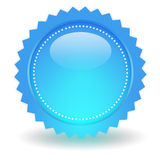 Blank glossy button Royalty Free Stock Photos