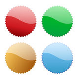 Blank glossy icon tag Stock Image