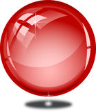Blank glossy red button Stock Images
