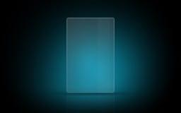 Blank glowing virtual tablet or digital screen Royalty Free Stock Images