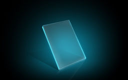 Blank glowing virtual tablet or digital screen Stock Images