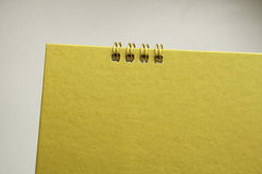 Blank gold calendar Stock Photo