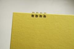 Blank gold calendar Stock Photo