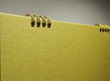 Blank gold calendar Stock Photography