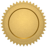 Blank gold certificate Stock Image
