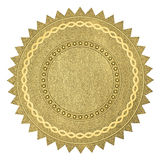 Blank gold certificate Royalty Free Stock Images