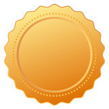 Blank gold certificate Stock Photography