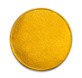 Blank Gold Coin. Large Gold Coin With Copy Space Isolated on White Background stock photography