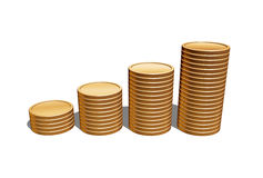 Blank gold coins Royalty Free Stock Image