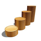 Blank gold coins Stock Photos