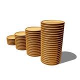 Blank gold coins Stock Photos