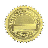 Blank Gold Graduate Seal Stock Photo