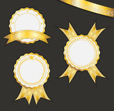 Blank gold label Royalty Free Stock Images