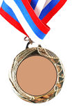 Blank gold medal Stock Images