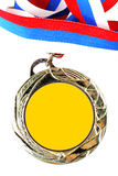 Blank gold medal Stock Image