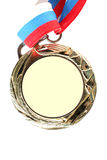 Blank gold medal Royalty Free Stock Photography