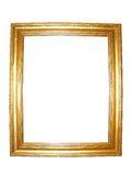 Blank Gold Picture Frame Stock Image