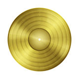 Blank gold record Royalty Free Stock Photos