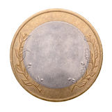Blank gold and silver coin Stock Image