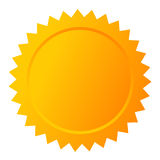 Blank gold vector star seal Royalty Free Stock Photo