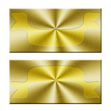 Blank golden banner Royalty Free Stock Photography