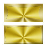 Blank golden banner Stock Photography