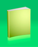 Blank golden book with reflection Stock Photography