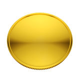 Blank golden coin Royalty Free Stock Image