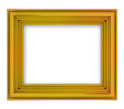 Blank golden decorative rectangular frame Royalty Free Stock Images