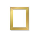 Blank golden frame template for pictures and photos. Isolated . Blank golden frame template for pictures and photos. Isolated Royalty Free Stock Image
