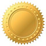 Blank golden label Stock Image