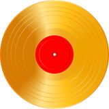 Blank golden LP Stock Image
