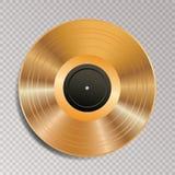 LP vinyl golden trans Royalty Free Stock Photo