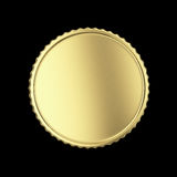Blank golden medal. Golden label on black isolated with clipping path Stock Photography