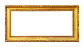 Blank Golden Picture Frame Stock Photo