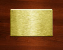 Blank golden plate royalty free stock photography