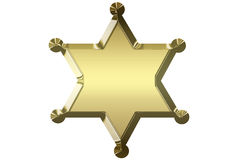 Blank golden sheriff star Royalty Free Stock Image