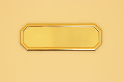 Blank golden sign Royalty Free Stock Image