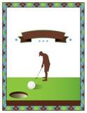 Blank Golf Tournament Flyer Template stock illustration