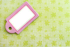 blank grön rosa etikett Royaltyfria Bilder
