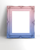 Blank gradient pastel pink and blue Vintage Victorian style pict Stock Photography