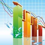blank graf för stång 3d stock illustrationer