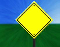 Blank Graphic Street Sign. A blank yellow and black graphic street sign Stock Photos