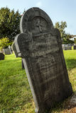Blank grave stone in cemetery Stock Photography