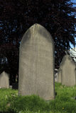 Blank Grave stone in Graveyard Stock Images