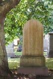 blank gravestone royaltyfria foton